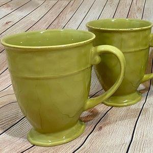 Pier 1 Martillo Sage Green Coffee Mugs Set Of 4